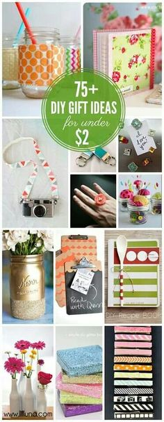 75 DIY Gifts for under $2 So perfect! I love these ideas-I've gotta remember to use these this Christmas! so great!