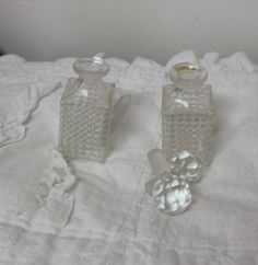 Antique Victorian Perfume Bottle Set by TreasuresFromUs on Etsy