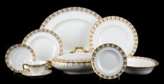 Royal Crown Derby partial dinner service