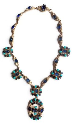 Rare Vintage Ciner Sapphire and Turquoise by TheOpulentHippo, $645.00
