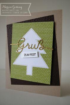 Stampin' Up Weihnachtskarte, Project Life, Winterliche Weihnachtsgrüsse