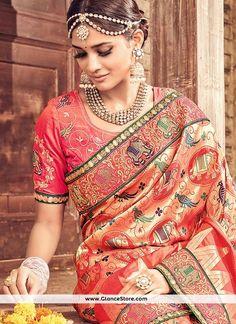 Irresistible Banarasi Silk Multi Colour Traditional Saree