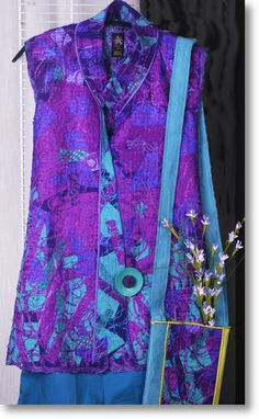 Women's style: Love the vest. Fashion Art, Womens Fashion, Fashion Design, Plus Size Sewing, Altered Couture, Sewing Clothes, Refashion, Dressmaking, Wearable Art
