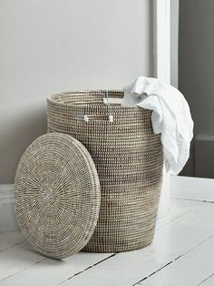 Tired of your old and dirty laundry hamper? Choose from canvas, metal, wicker cane, wooden and plastic in our stylish selection of laundry bags and unique laundry hampers. Bathroom Laundry Baskets, Laundry Room, Laundry Bags, Large Laundry Hamper, Woven Laundry Basket, Ikea Laundry, Bathroom Storage, Clothes Basket, Stoneware Dinnerware