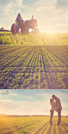love the bottom pic. Farm engagement