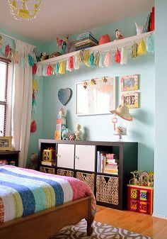 Absolutely Adore everything about this little girl's bedroom and this blog page...will be visiting again.