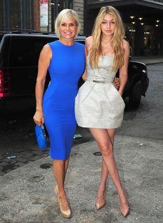 Gigi Hadid with her mom Yolanda Foster...
