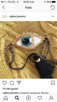 Embroidery Jewelry, Brick Stitch, Nice Things, Beading, Jewels, Diy, Good Ideas, Amor, Bracelets