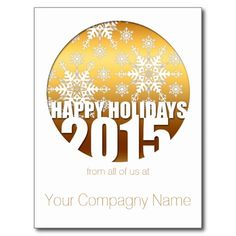 2015 Happy Holidays Customizable Corporate Cards - Postcards