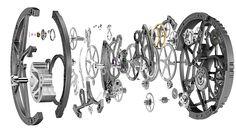 pocket watch interior gears - Google Search
