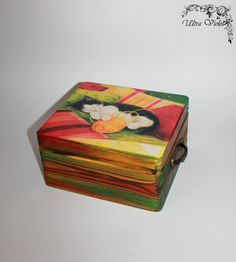 Sewing / knitting needles box for many little things (knitting needles, needles, pins, threads, thimble and buttons ezt.) approximately 21x19x11 cm
