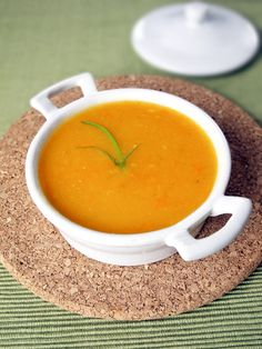 Blended Vegetable Soup. Healthy and easy vegetable soup made with carrots, celery, onions and potatoes and half blended for a thick, hearty texture. Perfect meal for vegans and vegetarians!