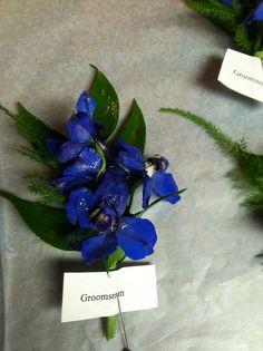 Blue delphinium boutonniere | Flickr - Photo Sharing!
