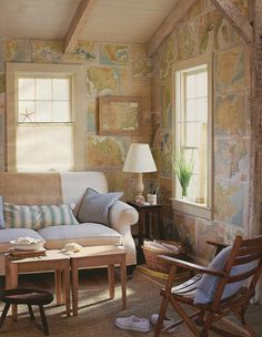 ways to decorate with maps - Google Search