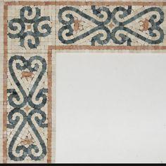 Classical motif Roman mosaic border
