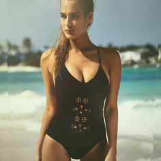 Black Hollow Out Spaghetti Strap One Piece Swimwear  #girls #ohyoursfashion #onlineshopping #fashion #outfits Swimwear Sale, Swimwear Fashion, Bikini Swimwear, Swimsuits, Bikinis, Two Piece Swimwear, One Piece Bikini, Bikini Set Sale, Leopard Print Bikini