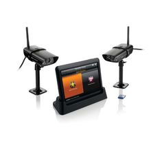 Uniden Guardian Advanced Wireless Screen Video Surveillance System with 2 Outdoor Cameras Black -- Check out this great product. (This is an affiliate link and I receive a commission for the sales) Best Home Security System, Wireless Security Camera System, Wireless Camera, Security Cameras For Home, Smartphone, Security Alarm, Camera Surveillance System, Home Surveillance