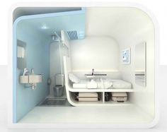 Chambre Michelberger Hôtel à Berlin - Hotel Room Ideas Innovation Design, Business Innovation, Sleep Box, Bubble Tent, Capsule Hotel, Hotel Room Design, Hotel Concept, Compact Living, Hotel Suites