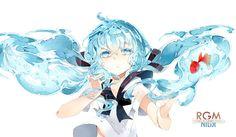 Render Vocaloid - Renders Vocaloid Hatsune Bottle Miku Robe Eau Poisson Rouge Bleu