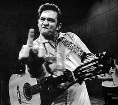 Johnny Cash with his bird We all have those days, Johnny