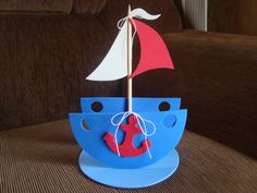 porta guardanapo barco para tema marinheiro obs: o tempo de produção depende da quantidade Rainbow Theme, Baby Boy Shower, Silhouette Projects, Birthday Candles, Scrap, Boys, Party, Tattoos, Sailor Baby