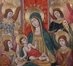 Virgen con el Niño rodeada de ángeles . Pedro García de Benavarre.
