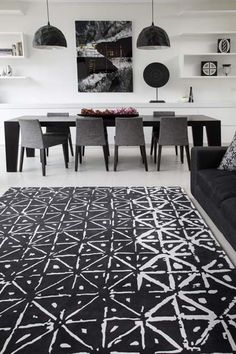 Batik - Rug Collections - Designer Rugs - Premium Handmade rugs by Australia& leading rug company Small Apartment Interior, Black And White Interior, Black White, Rug Company, Carpet Design, Contemporary Rugs, Floor Rugs, Handmade Rugs, Modern Interior Design