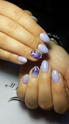 #nails #purple #almond #shape #cute #summer #colors #mandala #small