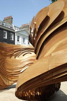 'Driftwood', the Architectural Association's summer pavilion designed by Unit 2 Students is unveiled today in Bedford Square, London.