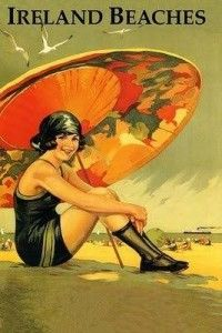 1920s -Lovely parasol and swimsuit calls for a vacation to Ireland's beaches  http://www.vintagedancer.com/1920s/1920s-swimsuits/
