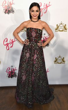 Vanessa Hudgens from The Best of the Red Carpet  She's darkly romantic in a stained-glass print Alice + Olivia gown at the Gigi NYC premiere.