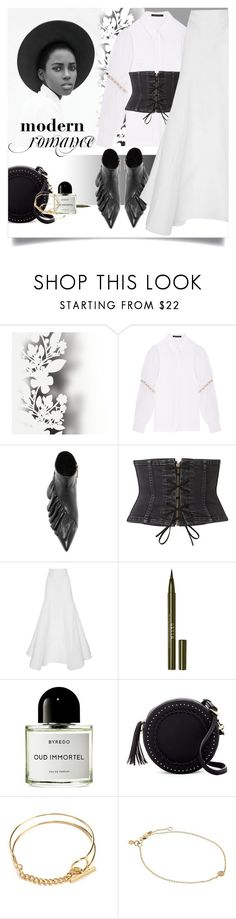 """Pure with a touch of dark"" by laste-co ❤ liked on Polyvore featuring Élitis, Mother of Pearl, J.W. Anderson, Witchery, Stila, Byredo, Urban Expressions and Sydney Evan"