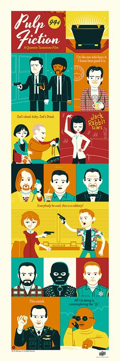 Pulp Fiction by Dave Perillo / Blog 12″ X 36″... | XombieDIRGE