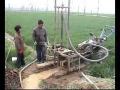 Water well drilling rig,well sinker,well drill,well rig - YouTube