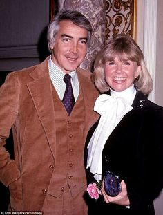 Doris Day pictured with her fourth husband, Barry Comden in 1976