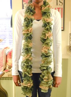 sashay ruffle scarf with video how to