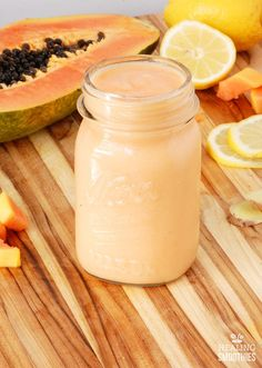 What you eat determines the health of your digestive system which, in turn, has a huge impact on how you feel. Check out this easy tropical #smoothie #recipe that's packed with vitamins, minerals, antioxidants, fiber, and beneficial enzymes that can enhance digestion, ease bloating, calm an upset stomach, and help you feel fantastic inside and out. If you give these smoothies a try let us know how you liked them, and have a wonderful weekend!