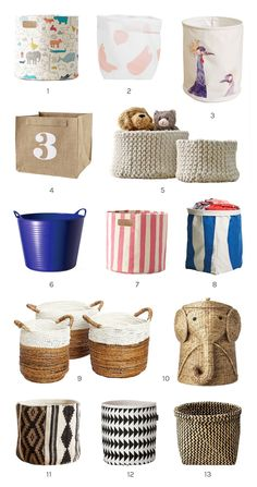 bins and baskets storage for kids