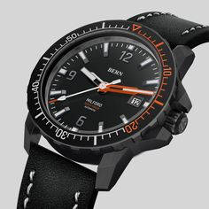 Coming Soon to kickstarter, register your interest today at bernwatch.com   42mm Black pvd Case, Miyota 8215 automatic movement, 300m/1000ft Dive depth, unidirectional clicking bezel with Swiss X1-Grade GL-C3 Superluminova. Anti Reflective coated Sapphire Crystal. One of the most eagerly awaited dive watch launches of 2019 Bern, Watch Brands, Omega Watch, Sapphire, Product Launch, Crystal, Watches, Accessories, Black