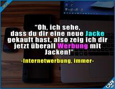 Ich brauch nur eine! °^° Lustige Sprüche / Lustige Bilder #Sprüche #Humor #lustig #1jux lustigeSprüche #lustigeBilder #Internetwerbung #Werbung #Internet #nervig #sowahr