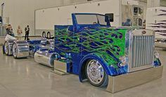 Lowrider semi... way cool. Never seen one done up this custom before.