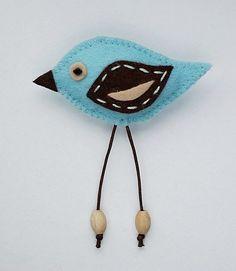 ✄ A Fondness for Felt ✄ felted craft diy inspiration - felt bird