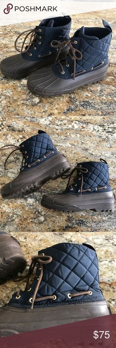 """Sperry Top Sider """"Gosling"""" Blue Rubber Duck Boots Sperry Top Sider Rubber Duck Boots Size 11 Sperry Top-Sider Shoes Winter & Rain Boots"""