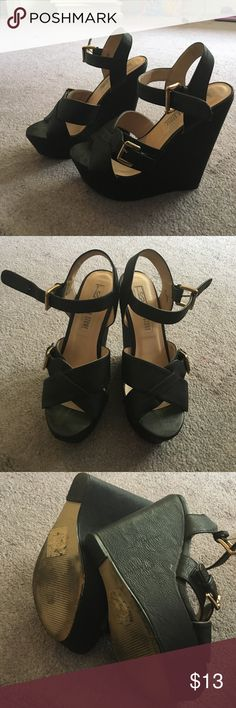 Black Wedges! Black wedges , great condition worn a handful of times. Super comfortable. No stains or knicks. From Shoedazzle approx 4 1/2 Leila Stone Shoes Wedges