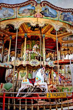 Double decker Carousel. I used to ride one of these every week at the mall in Louisville :)
