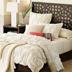 Whitish colored bed sheets