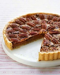 Chocolate-Pecan Tart - You can also bake the chocolate filling in your favorite homemade pie dough or a ready-made frozen pie shell; you may need fewer pecans (chocolate filling lights) Chocolate Pecan Tart Recipe, Chocolate Ganache Tart, Chocolate Chip Pie, Chocolate Filling, Dessert Chocolate, Tart Recipes, Dessert Recipes, Dessert Tarts, Pecan Recipes