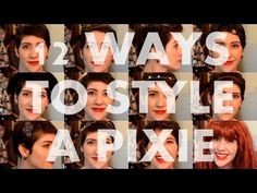 12 ways to style a pixie. Love this!! (Especially the clips, hat, scarf, and headbands!)