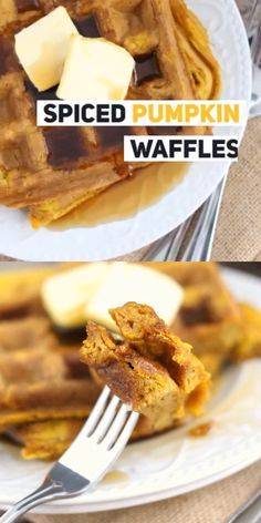 These Pumpkin Waffles are the perfect simple fall breakfast idea – make a double batch for the freezer! Brunch Recipes, Breakfast Recipes, Dessert Recipes, Breakfast Ideas, Recipes Dinner, Healthy Desserts, Healthy Recipes, Fall Breakfast, Make Ahead Breakfast