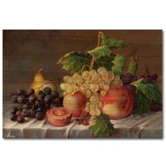 Grapes Painting Print on Wood